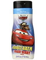 Disney Pixar The World of Cars Bubble Bath Tear Free Revved Up Raspberry