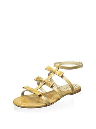Butter Women's Amaze Gladiator Flat Sandal (Nude)