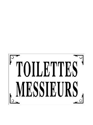 Bonnecaze Absinthe & Cuisine Messieurs Toilettes Enamel Metal Plaque
