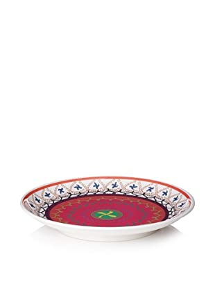 "Bongenre Anya Susani 18"" Platter (Orange/Pink)"