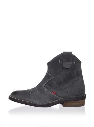 Kickers Kid's Starlow2 Short Western Boot (Big Kid) (Black)