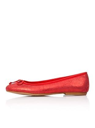 Bisue Bailarinas Efecto Brillo (Rojo)