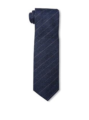 Desanto Men's Scozia Wide Stripe Tie, Blue/Red
