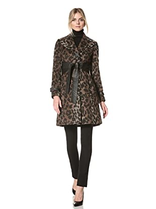 Via Spiga Women's Mariabella Belted Wool Jacket (Leopard)