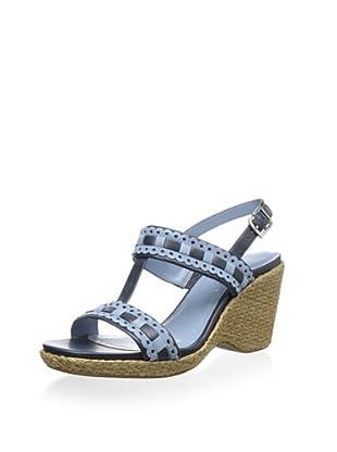 Rockport Women's Delyssa H Strap Sandal (Dress Blues/Faded Denim)