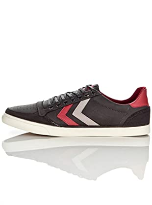 Hummel Zapatillas Ten Star Oiled Unisex (Negro/Rojo/Gris)