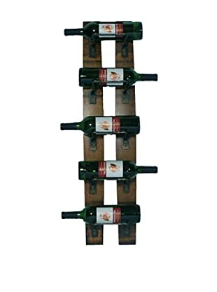 2 Day Designs 5-Bottle Wall Rack