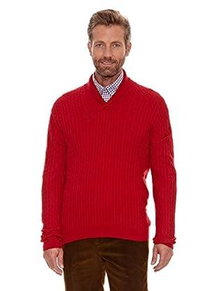 Cortefiel Jersey Trenzas (Rojo)