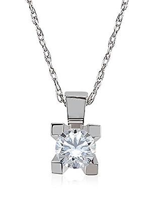 Divas Diamond Conjunto de cadena y colgante Gold Solitaire Diamond