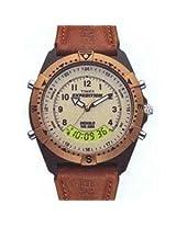 Timex Brown Leather Analog Digital Men Watch MF13