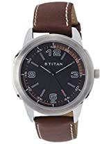Titan Youth Analog Black Dial Men's Watch - NE1585SL03
