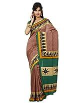 Rani Saahiba Soft Twill Silk Light Brown Saree