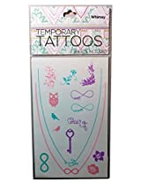 Beautiful Quality Temporary Tattoos ( 2 Sheets Included ) Whimsy Design