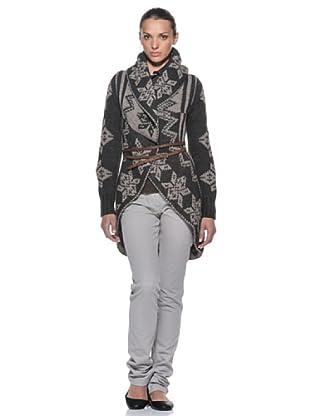 Timberland cardigan lungo (grigio/ècru)
