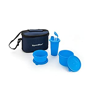 Signoraware Combo Small Executive Lunch with Bag, T Blue