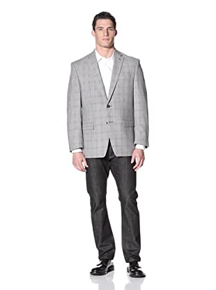Calvin Klein Men's Malik Check Jacket (White/Black)