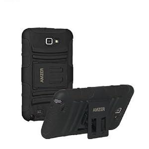 Amzer 94201 Hybrid Kickstand Case - Black for Samsung Galaxy Note