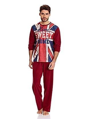 Muslher Pijama Caballero (Granate)