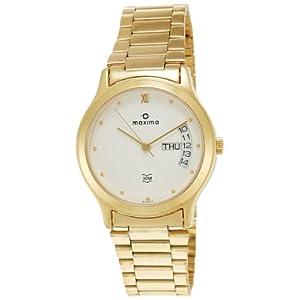 Maxima Analog White Dial Men's Watch - 06365CMGY