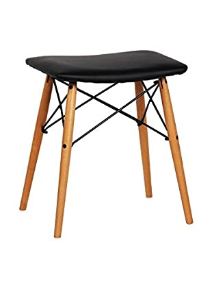 LO+DEMODA Hocker 2er Set Wooden schwarz