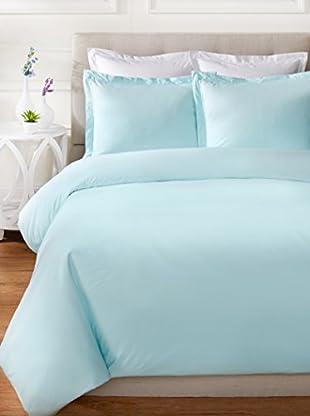 Mélange Home Egyptian Cotton Percale Double Pleat Duvet Set