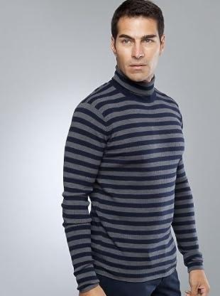 Armand Basi Jersey Acanalado (gris / azul marino)