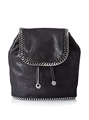 Stella McCartney Women's Quilted Shaggy Deer Mini Backpack, Black