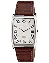 Titan Edge Analog White Dial Men's Watch - NE1596SL01