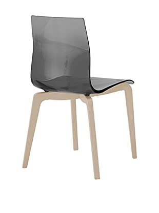 Domitalia Gel-L Chair, Transparent Smoke/Ash White