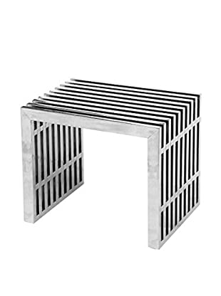 Manhattan Living Zeta Stainless Steel Short Bench, Stainless Steel