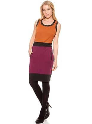 SideCar Kleid Colorblocking (Orange)