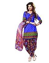 Riti Riwaz Blue Casual Dress materal with matching dupatta PUM7014