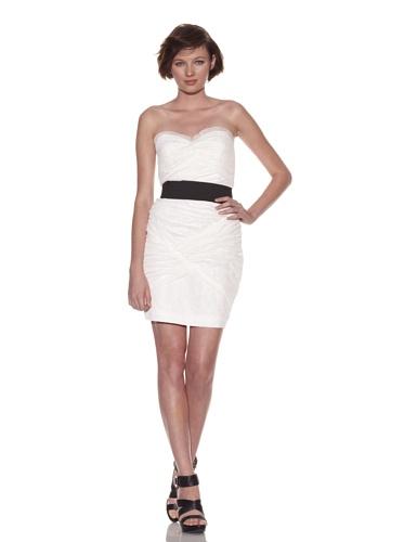 Foley + Corinna Women's Netting Spaghetti Strap Dress (White)