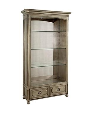Bassett Mirror Company Palazzina Bookcase, Champagne Silver