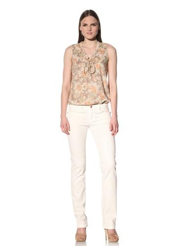 Earnest Sewn Women's Decca Straight Leg Jean (Light White)