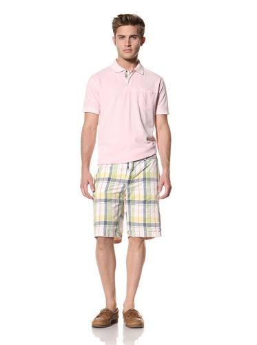 Tailor Vintage Men's Reversible Short (Orange/Plaid)