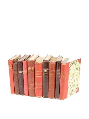Set of 10 Vintage Leather Books VI