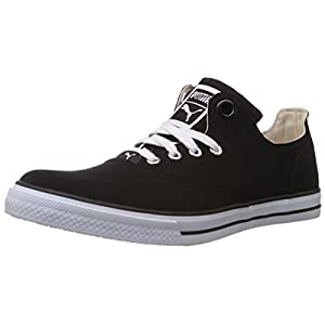 Puma Men's Limnos III Ind. Black Canvas Sneakers - 11 UK
