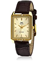 S118-100Ny Brown /Golden Analog Watch