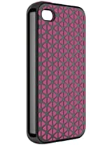 Philips DLM6344/17 Hybrid Grip Case for iPhone 4/4S, Black/Pink