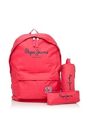 Pepe Jeans Set de mochila + 2 estuches Fucsia