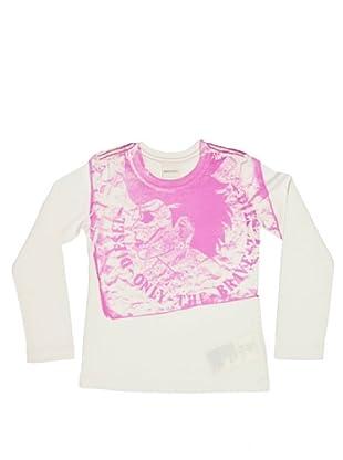 Diesel Kid Longsleeve Trevk (Weiß/Pink)