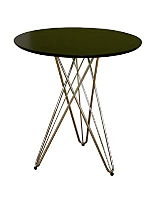Baxton Studio Itala Steel Base Round Table, Black