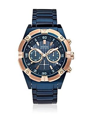 Guess Uhr mit japanischem Mechanikuhrwerk Man Jolt Rose Gold Tone/Blue roségold/blau 47.5 mm