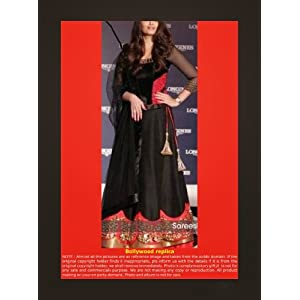 Aishwarya Rai In Black Designer Party Wear Exclusive Gown FM-6201
