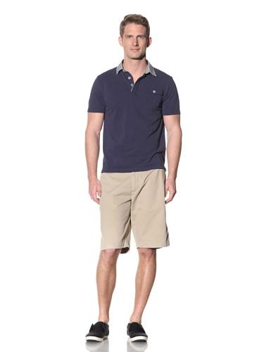 Barque Men's Polo with Contrast Collar (Navy)