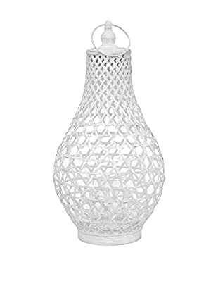 Three Hands Tall Bamboo Lantern, White