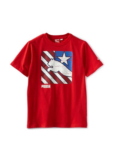 Puma Boys 8-20 USA Team Tee (Red)