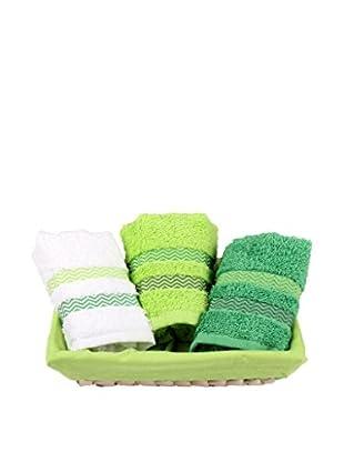 Homemania Handtuch 3er Set Candy grün 30 x 50 cm