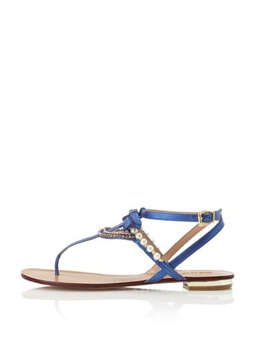 Schutz Women's Pearl T-Strap Sandal (True Blue)